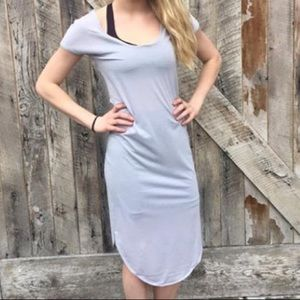 Lululemon Retreat Silver Fox Scoop Neck Dress